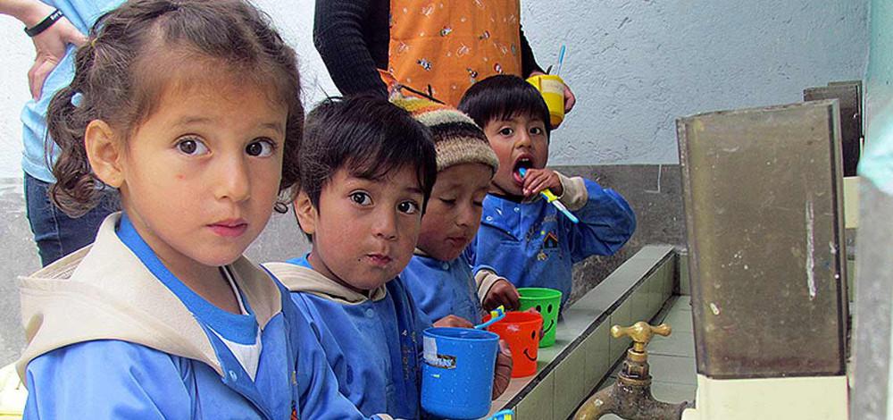 One of our volunteers in Ecuador